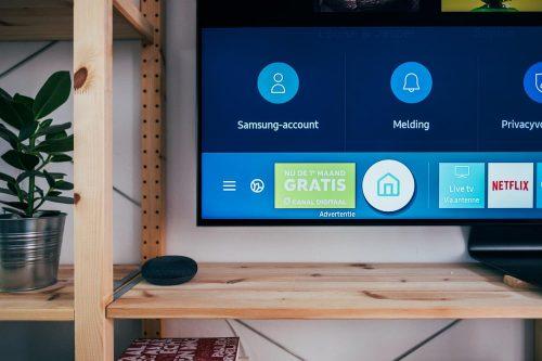 TV on a shelf
