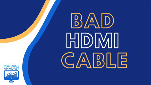 bad hdmi cable