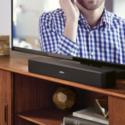 Bose Solo 5 displayed below a TV