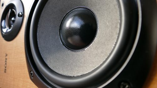 close-up of a Sony subwoofer