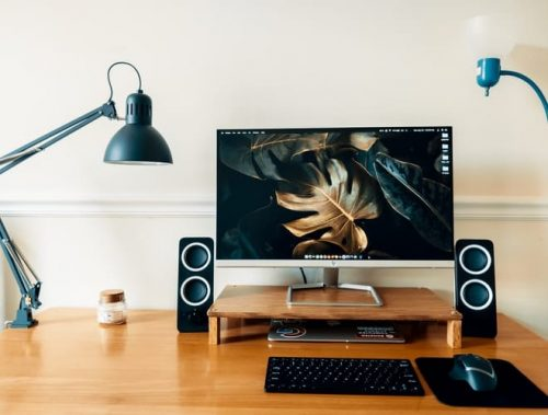 soundbar in a desktop